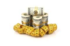 Dimagrendo per i soldi Immagini Stock