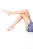 Dimagrisca i piedini Fotografie Stock