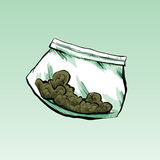 Dime Bag Royalty Free Stock Photography