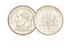 Dime coin isolated Royalty Free Stock Image