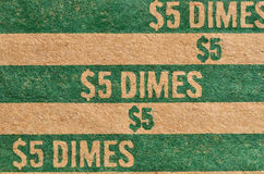 Dime Roller Background Stock Image