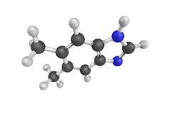 Dimedazol,亦称5,6-Dimethylbenzimidazole,是自然的 库存照片