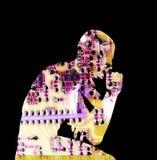 Dimensión de una variable 25 del hombre Fotos de archivo libres de regalías