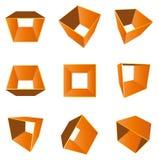 dimensión de una variable 3D (vector) Imagen de archivo