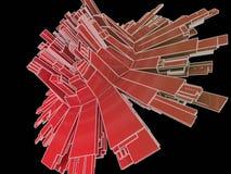 Dimensión de una variable abstracta 3d Fotografía de archivo libre de regalías