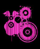 Dimensión de una variable abstracta rosada retra Foto de archivo