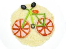 Dimensión de una variable creativa de la bicicleta de las gachas de avena Imágenes de archivo libres de regalías