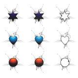 Dimensión de una variable de Grunge Stock de ilustración