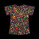 Dimensión de una variable de la camiseta Fotografía de archivo libre de regalías