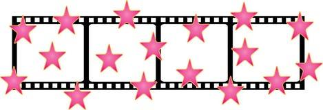Dimensión de una variable de la película con las estrellas Foto de archivo
