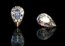 Dimensión de una variable de la pera de las gemas de la joyería Imágenes de archivo libres de regalías
