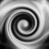 Dimensión de una variable de onda de semitono del vector Foto de archivo