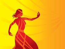 Dimensión de una variable del color de la silueta de la mujer libre illustration