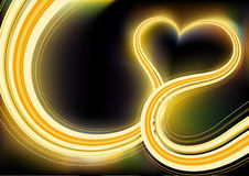 Dimensión de una variable del corazón Imagen de archivo