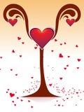 Dimensión de una variable del corazón con amor Imagen de archivo libre de regalías