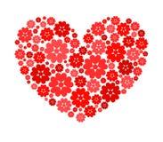 Dimensión de una variable del corazón con las flores. Foto de archivo libre de regalías