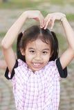 Dimensión de una variable del corazón de la muchacha foto de archivo