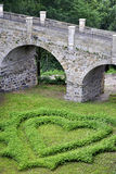 Dimensión de una variable del corazón del amor en hierba Foto de archivo