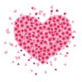Dimensión de una variable del corazón hecha de hojas libre illustration