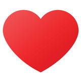 Dimensión de una variable del corazón para los símbolos del amor ilustración del vector