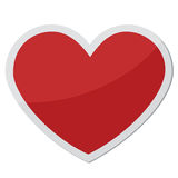 Dimensión de una variable del corazón para los símbolos del amor Fotografía de archivo
