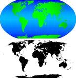 Dimensión de una variable del mundo ilustración del vector