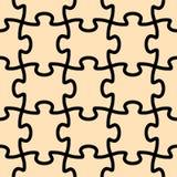 Dimensión de una variable inconsútil del rompecabezas del vector Imagen de archivo libre de regalías