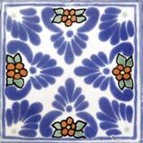 Dimensión de una variable mexicana cuadrada del azulejo Imagen de archivo libre de regalías