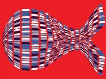 Dimensión de una variable a pescado Imagen de archivo libre de regalías
