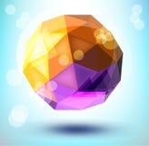 dimensión de una variable poligonal 3d Fotografía de archivo libre de regalías