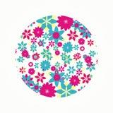 Dimensión de una variable redonda floral para la decoración Fotografía de archivo libre de regalías