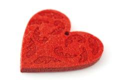 dimensión de una variable roja mullida del corazón Fotos de archivo libres de regalías
