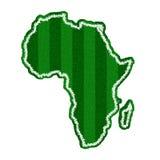 Dimensión de una variable verde del campo de fútbol de África Imagen de archivo libre de regalías