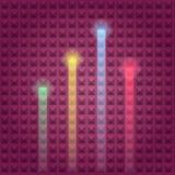 Dimensi?n de una variable colorida del haz y de la luz stock de ilustración