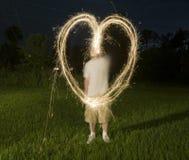 Dimensión de una variable abstracta de Sparklers Fotografía de archivo libre de regalías