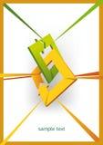Dimensión de una variable tridimensional de las flechas Fotografía de archivo libre de regalías