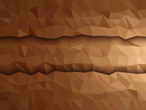 Dimension of Brown triangle banner Royalty Free Stock Photography