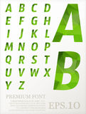 Dimension colorful alphabet set font Low poly artistic color   Royalty Free Stock Photography
