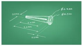 Dimension d'ancre de gaine plastique ou de prise de mur Photos stock