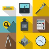Dimension icon set, flat style Stock Images