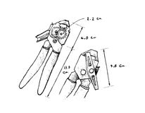 Dimension tirée par la main d'ouvreur ou de Tin Opener de boîte illustration de vecteur