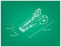 Dimension tirée par la main de pince à linge ou de pince à linge illustration libre de droits
