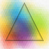 Dimension of triangle art colorful background Royalty Free Stock Photo