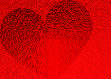 Dimensionaal hart Stock Foto