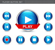Player button set Royalty Free Stock Photo