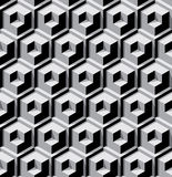 Dimensional cubes background Stock Images