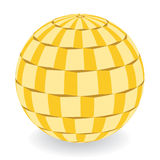 Dimensional disco ball background. Color illustration of squares ball royalty free illustration