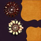 Dimensional flowers. Purple and orange dimensional flowers Royalty Free Stock Photography