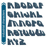 Dimensional font with rotation effect, 3d script Royalty Free Stock Photos
