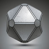 Dimensional galvanized object created from geometric figures, me Stock Images
